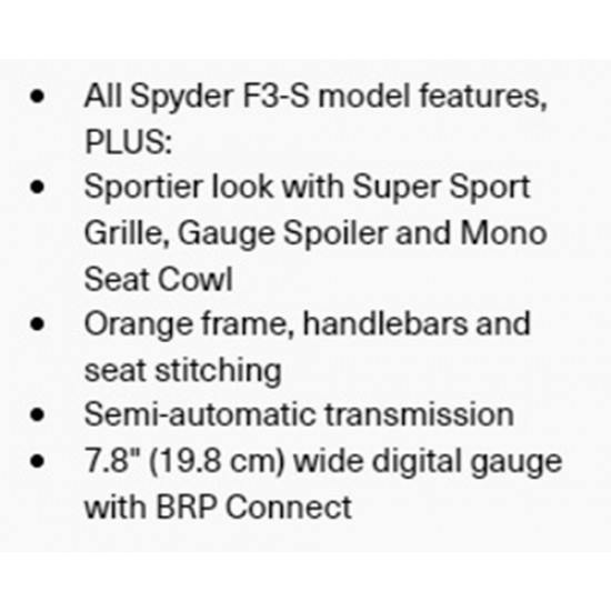 Can-Am Spyder F3-S SE6 Liquid Titanium Special Series 2020