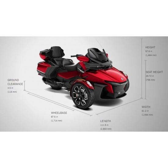 Can-Am Spyder RT Limited SE6 Deep Marsala Red Metallic Chrome Edition 2020