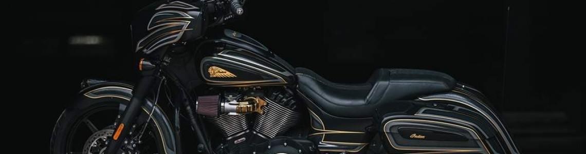 Motocicletă custom Indian Chieftain Dark Horse scoasă la licitație în scop caritabil