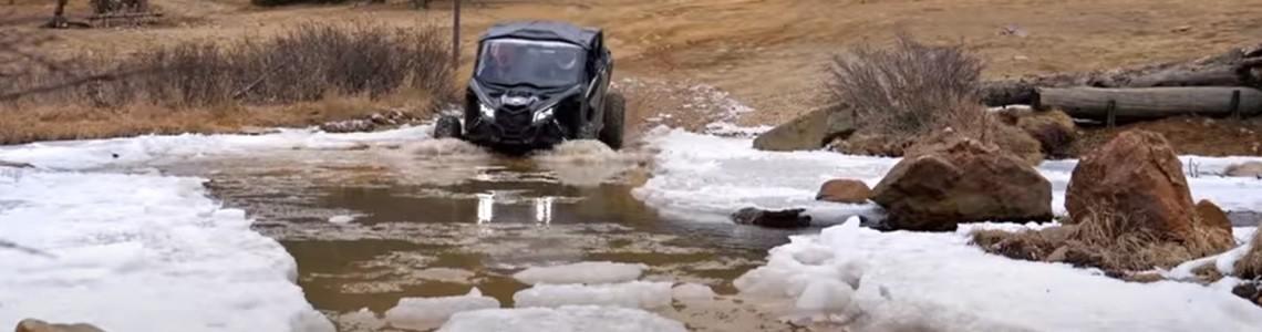 Can-Am Maverick MAX X RS Turbo RR la înălțime: video